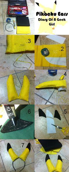 geekgirl | pikachu ears DIY tutorial