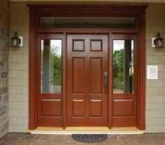 Wooden Main Door Design, Double Door Design, Room Door Design, Door Entryway, Entrance Doors, Front Gate Design, House Front Door, House Elevation, Double Doors