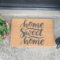 Artsy Home Sweet Home 40x60cm Coir Door Mat in Grey – Next Day Delivery Artsy Home Sweet Home 40x60cm Coir Door Mat in Grey from WorldStores: Everything For The Home