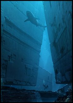 Underwater Ruins 8 by Raphael Lacoste Spectrum The Best in Contemporary Fantastic Art Under The Water, Under The Sea, Fantasy Places, Fantasy World, Fantasy Concept Art, Fantasy Art, Underwater Ruins, Underwater Shipwreck, Underwater Drawing