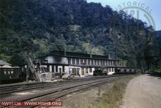 N&W Engine House at Iaeger, WV Sept. 9, 1958