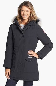 Canada Goose 'Trillium' Regular Fit Down Parka with Genuine Coyote Fur Trim available at #Nordstrom