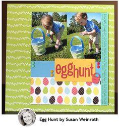egghunt.  American Crafts Paper Spring Dear Lizzy