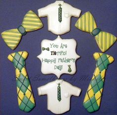 Father's Day Argyle Tie and Bowtie Cookies - Sweet Somethings by Michelle