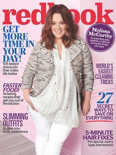 In the April issue of Redbook, Melissa McCarthy gets candid about helping women keep a positive outlook when it comes to their body image. Plus Zise, Dresser, Look Thinner, Gilmore Girls, Blazer, Body Image, Couture, Plus Size Women, Plus Size Outfits