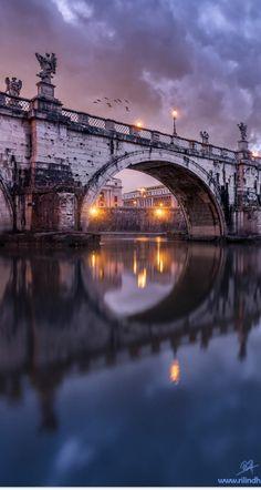 Río Tíber Roma Italia