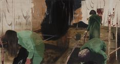 Mamma Andersson | Dog Days, 2011 Mixed media on panel, 99x184,5 cm