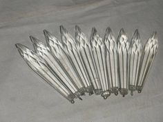 Lot of 750 rods stick for chandelier parts with glass beads in ...