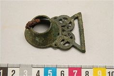 Viking woman's bronze tool brooch from Gotland