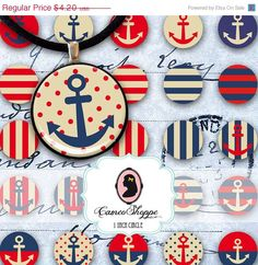 75% OFF SALE Digital Collage Sheet Circle VINTAGE by cameoshoppe
