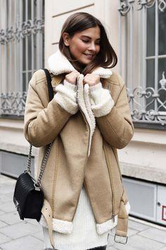 The seemingly extinct Zara shearling jacket.   @andwhatelse
