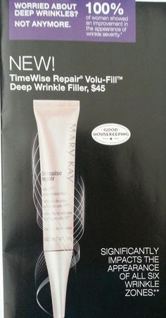 Coming soon from Mary Kay! TimeWise Repair Volufirm Wrinkle Filler!! Preorder today. Money back guarantee! http://www.marykay.com/lheff  Call or text 419-651-0938