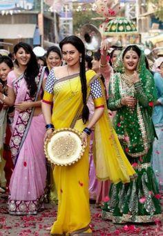 Sonakshi Sinha's #Dabangg 2 Inspired Yellow #Bolywood_Saree