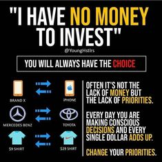 How to find money to invest - Finance tips, saving money, budgeting planner Financial Quotes, Financial Literacy, Financial Tips, Financial Planner, Business Coach, Business Money, Business Tips, Business Entrepreneur, Bitcoin Business