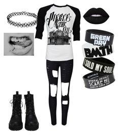 """""""Always Emo"""" by rawr-the-dinosaur ❤ liked on Polyvore featuring Retrò and Lime Crime"""