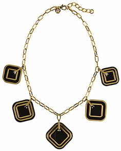 """Tory Burch """"McCoy"""" Plated Resin Necklace $295.00$149.90"""