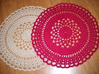 Crochet Galore: Birthday Doily - November Doily of The Month (use bulky yarn and a larger hook to make a rug)
