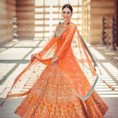 The bride twirls pretty in an orange Anita Dongre creation at WeddingSutra Bridal Diaries. Photography- shades photography india #BridalDiaries #WeddingSutraBridalDiaries #tanishqweddingsutra #JWMarriottPune #pune #AnitaDongre #Tanishq #maharashtrianwedding #bridalport...