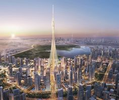 Santiago Calatrava has released more images of his Dubai Creek Tower – now under construction, and expected to surpass the 828-metre-high Burj Khalifa