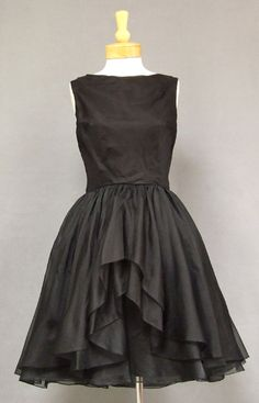Cocktail Dress, Suzy Perette, New York: 1960's, organdy, layered skirt.