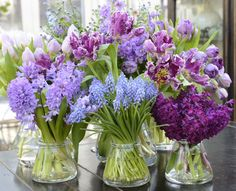 Purple flowers, lot's of them! My Flower, Fresh Flowers, Purple Flowers, Spring Flowers, Beautiful Flowers, Spring Colors, Beautiful Bouquets, Blooming Flowers, Chic Antique