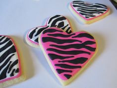 zebra cookies for a birthday party :)