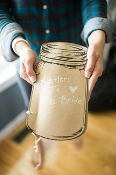 Wedding gift ideas / gifts for the bride / bridal gift ideas / navy wedding inspiration / letters to the bride Bridal Gifts, Wedding Gifts, Letters To The Bride, Mason Jar Lamp, Wedding Inspiration, Gift Ideas, Navy, Marriage Gifts, Wedding Giveaways