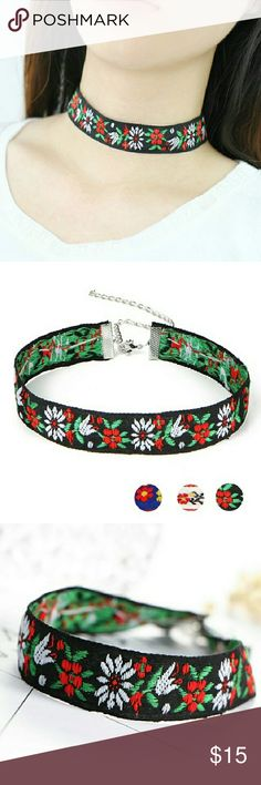 Bohemia Multicolor choker Necklace The bohemian Multicolor flowery choker Necklace is a must have this season. These cool Multicolor necklace is beautiful  for vintage  women. Jewelry Necklaces