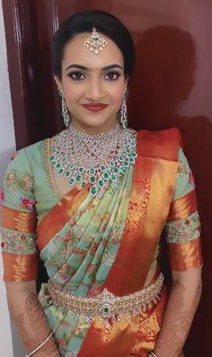 Lehenga Saree Design, Pattu Saree Blouse Designs, Black Blouse Designs, Bridal Blouse Designs, Bridal Sarees South Indian, Indian Bridal Fashion, Wedding Saree Collection, Saree Models, Elegant Saree