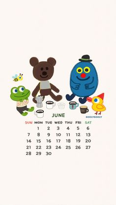 Goolygooly. Tap to see more 2015 June iPhone Wallpapers. Wonderful and cute Monthly Calendar Backgrounds. - @mobile9