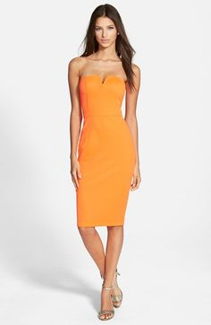 Speechless Notched Strapless Midi Dress available at #Nordstrom