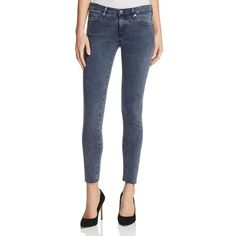 Ag Super Skinny Ankle Jeans in Interstellar After Dark ($210) ❤ liked on Polyvore featuring jeans, interstellar after dark, short pants, ankle jeans, grey wash jeans, skinny jeans and skinny fit jeans