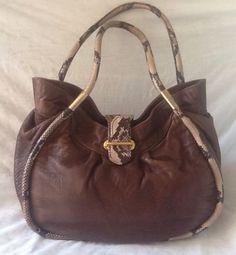 Paolo Masi Italy Satchel Shoulder Bag Soft Buffalo Leather Rattlesnake Trim EUC! in Clothing, Shoes & Accessories, Women's Handbags & Bags, Handbags & Purses | eBay