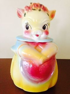 1950's Cookie Jars Vintage Panda Bear Cookie Jar Made In Japaneclecticclutterr