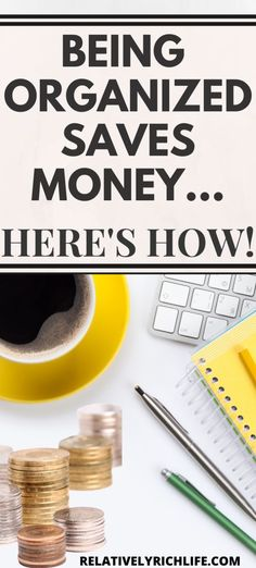 Being organized is a key component to your financial success. We give several examples of how being disorganized is costing you money and how to fix it. Managing Your Money, Save Your Money, Ways To Save Money, Money Tips, Savings Challenge, Money Saving Challenge, Budgeting Finances, Budgeting Tips, Financial Organization