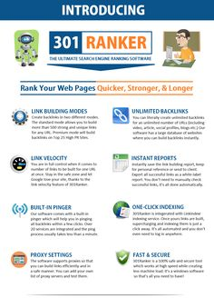 301 Ranker - SEO Software - Link Building Tool Email Marketing Tools, Email Marketing Campaign, Affiliate Marketing, Earn Money From Home, Make Money Online, Youtube Theme, Best Seo Tools, Seo Software, Keyword Planner