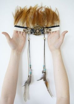 {DIY} it's tribal headdress time! | ohnorachio!