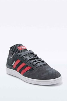 Adidas Busenitz Trainers in Grey and Burgundy