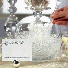Wedding Love Bubble Wands