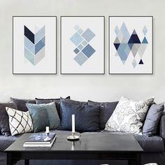 Minimalist Nordic Geometric Print Art