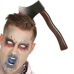 Diadema Hacha Halloween #accesoriosdisfraz #accesoriosphotocall Fake Blood, Axe, Fancy Dress, Halloween Party, Halloween Face Makeup, Aspirin, Handle, Costume, Create