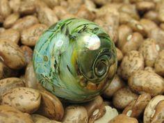 Into the Fire Lampwork Art Beads ~Luna~ Artist handmade glass focal bead SRA