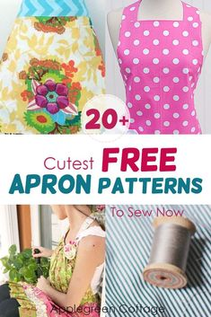 Excellent Free easy sewing hacks Suggestions More than 20 free apron patterns here! Learn how to make an apron using these free apron sewing pa Easy Sewing Patterns, Easy Sewing Projects, Sewing Projects For Beginners, Sewing Tutorials, Apron Patterns, Dress Tutorials, Sewing Hacks, Dress Patterns, Sewing Tips