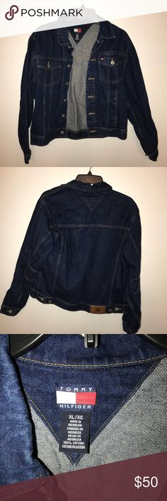 Vintage Tommy Hilfiger Jean Jacket Used Looks very cute oversized Tommy Hilfiger Jackets & Coats Jean Jackets