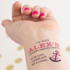 Personalisierbare Klebe-Tattoos für den Junggesellinnenabschied