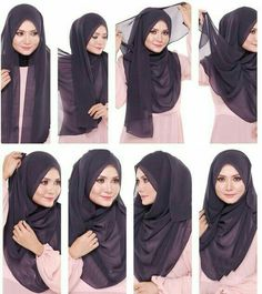 Find our latest new hijab styles 2020 step by step. Learn how to take hijab without a pin. You will be helped out in learning by making a tutorial series of taking hijab. See chest covering hijab style for girls and much more. Stylish Hijab, Modern Hijab, Hijab Chic, Simple Hijab Tutorial, Hijab Style Tutorial, Turkish Hijab Tutorial, Islamic Fashion, Muslim Fashion, Habits Musulmans