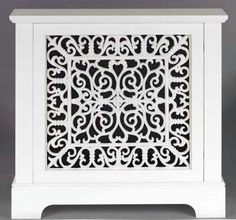 Marlow Design White MDF Radiator Cover/Cabinet with Cast Iron Grille | eBay