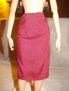 Barbie Doll Separates  Maroon wine colored by KelleysKreationsLV, $3.00
