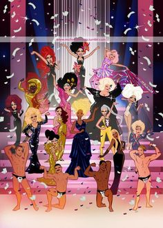 Rupaul's Drag Race Season 6 Reunited FanArt