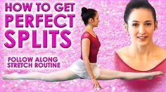 Perfect SPLITS Flexibility Stretch Challenge, How To Do The Splits Class...